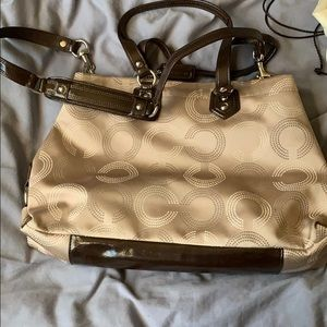 Coach Bags - Authentic original beige Coach purse!
